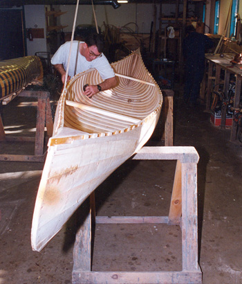 Island Falls Canoe Custom Made Wood And Canvas Canoes