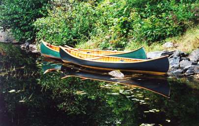 Island Falls Canoe - Custom Made Wood and Canvas Canoes - Old Townisland falls town