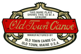 Island Falls Canoe - Custom Made Wood and Canvas Canoes - Old Town